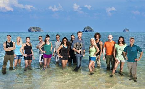 Denis Brogniart et les candidats de «Koh Lanta» 2014 en Malaisie. ALAIN ISSOCK/ALP/BUREAU233/TF1