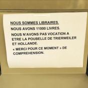 Nous avons 11 000 livres. Nous n'avons pas vocation à être la poubelle de Trierweiler et Hollande Merci pour ce moment de compréhension