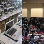 L'offre des ordinatuers par le président aux étudiants