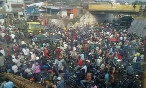 Une embouteillage à Douala