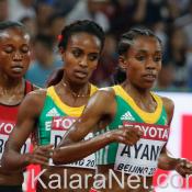 Almaz Ayana en tête du 10 000 m à Rio 2016