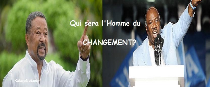 Le changement est le mot d'ordre des deux favoris à la présidentielle Jean Ping et Ali Bongo