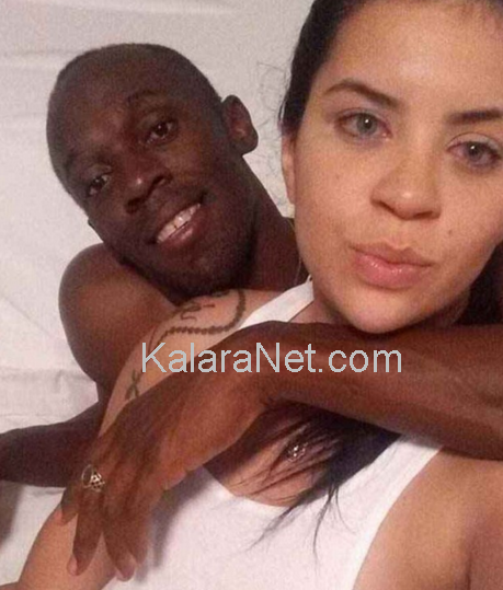 Usain Bolt enlace Jady Duarte qui  les prend en photo