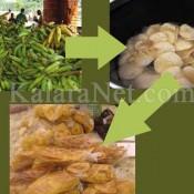 Usinage de la banane plantain