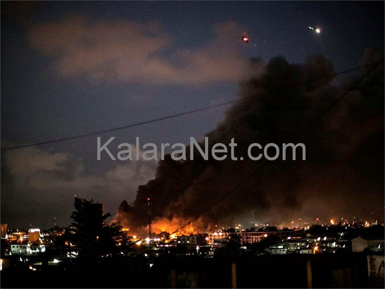Des incendies suite à la crise au Gabon