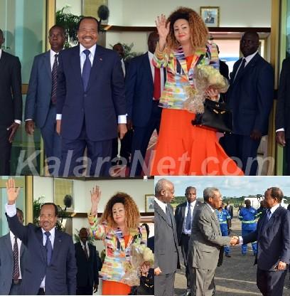 Paul et Chantal Biya sont arrivés à Yaoundé le 09.09.2016