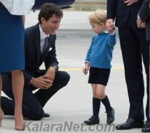 Le prince George a refusé de serrer la main de Justin Trudeau