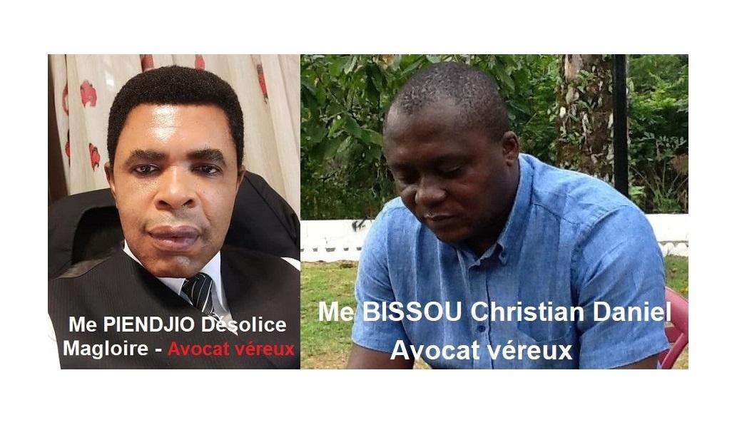 PIENDJIO et BISSOU - avocats véreux