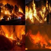 Le Sand Fire , un gigantesque incendie aux Etats-Unis