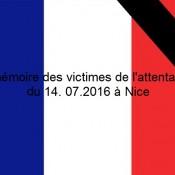 Drapeau français pour deuil - Attentat de Nice - 14.07.2016