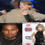 Kanye West et Taylor Swift s'embrasssent lors d'un concert